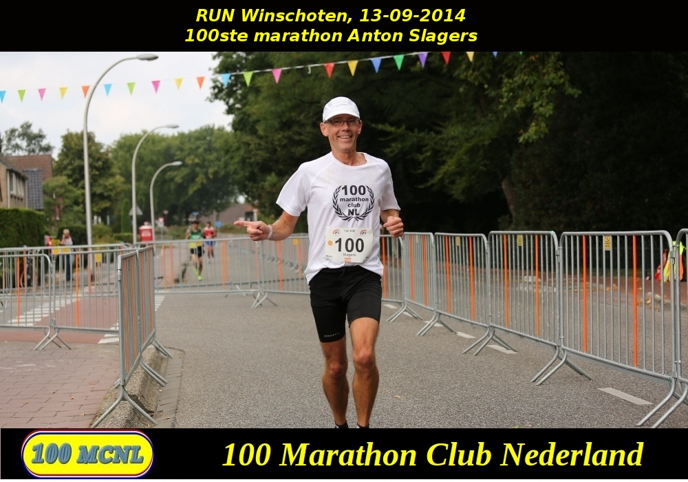 100ste marathon Anton Slagers