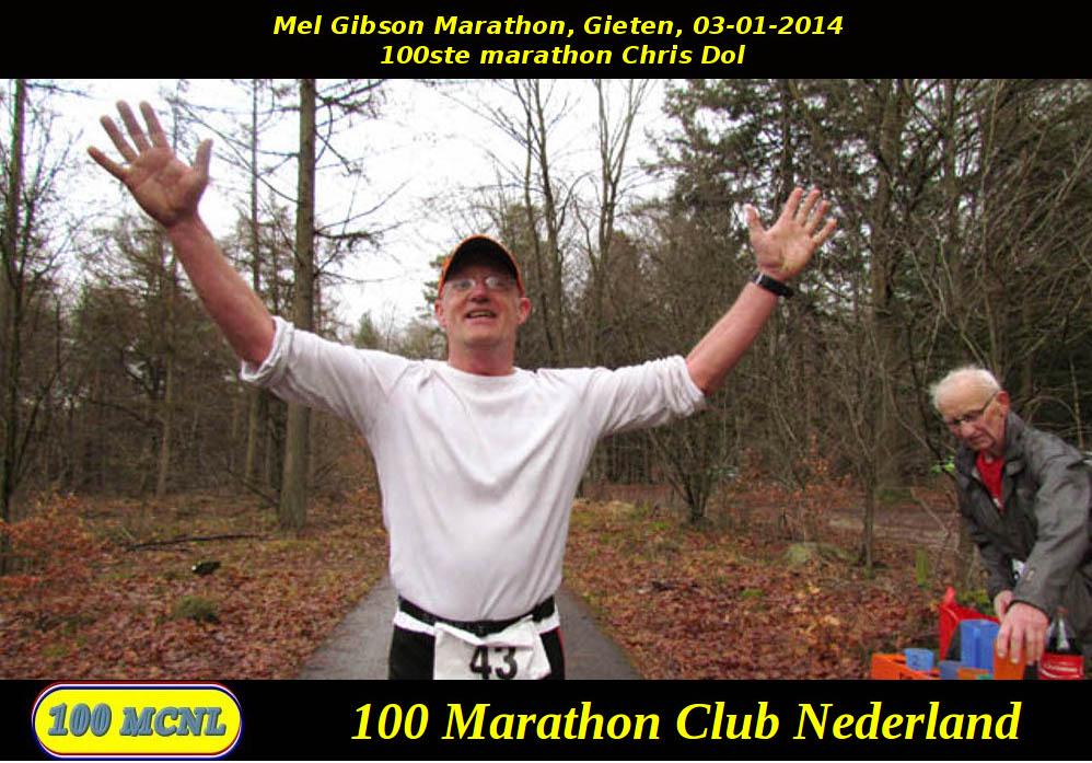 100ste marathon Chris Dol
