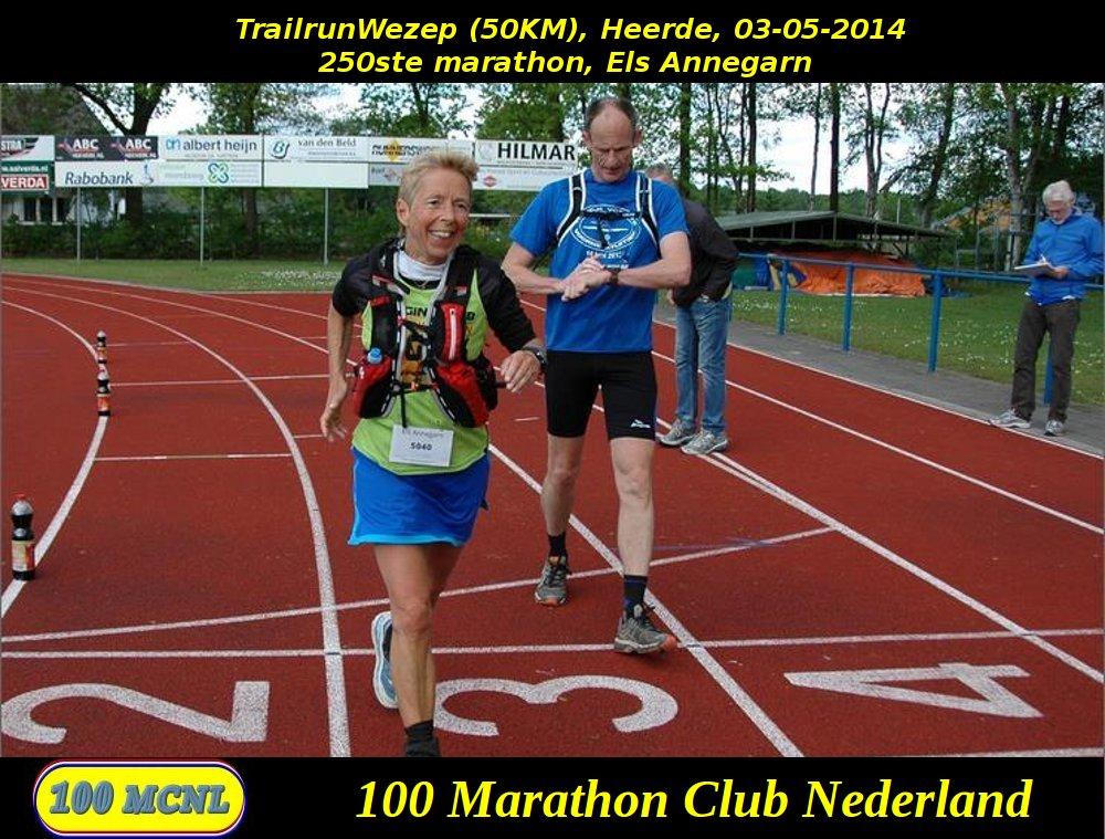 250ste marathon Els Annegarn
