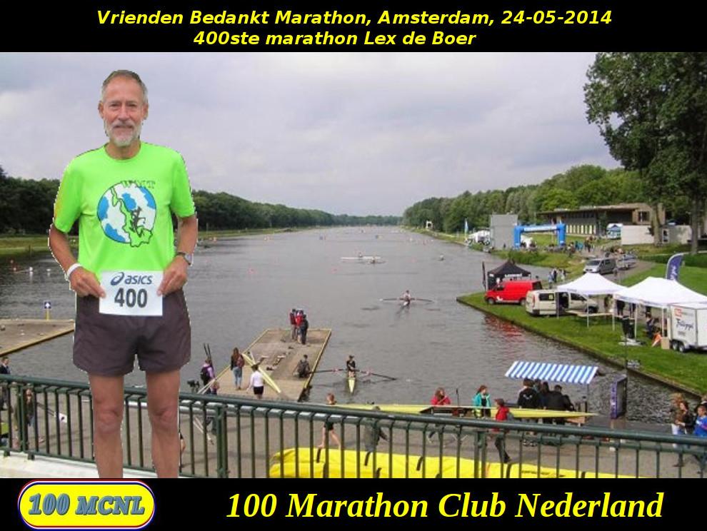 400ste marathon Lex de Boer