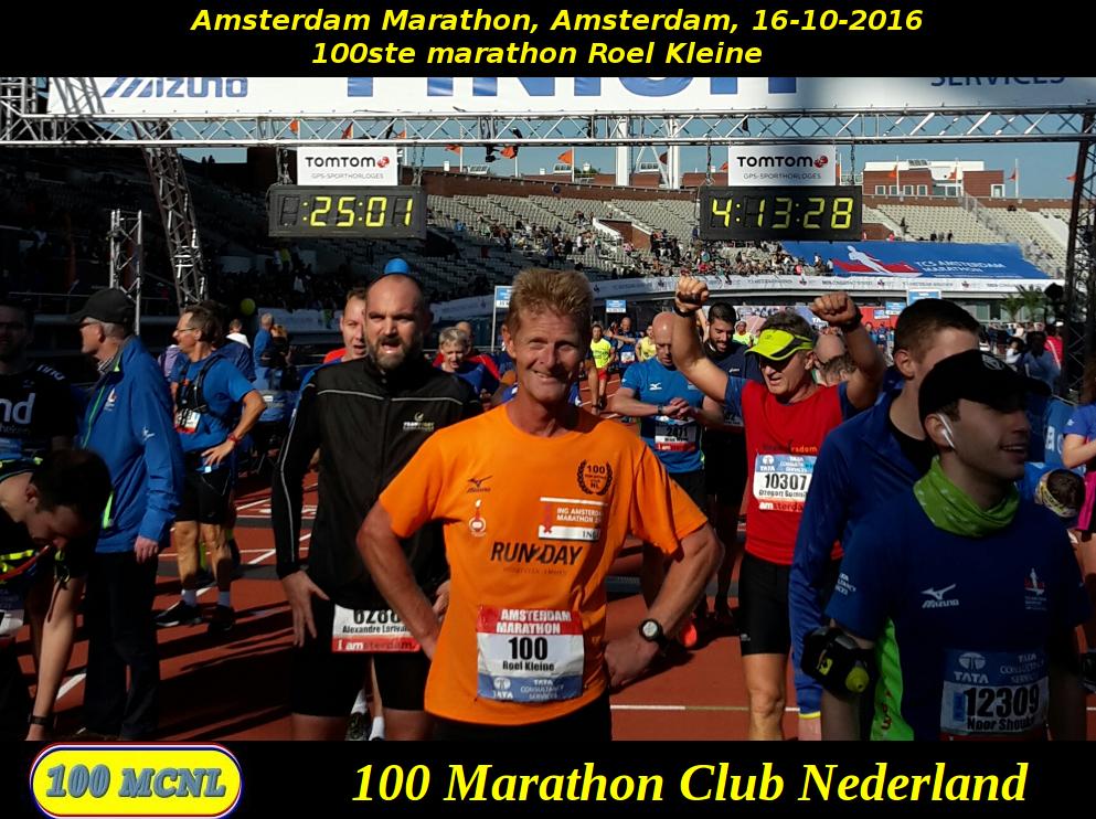 100ste marathon Roel Kleine