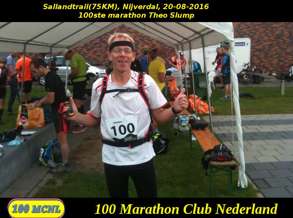 100ste marathon Theo Slump